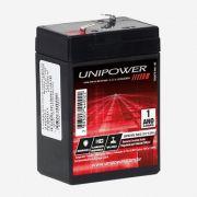 Bateria Estacionária Unipower VRLA 6V 4,5Ah Mod. UP645SEG  Linha SEG