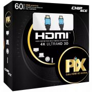 Cabo HDMI 1.4 19 Pinos 3D FullHD 60m 018-6120 Pix