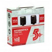 Cabo VGA para VGA 10 metros com Filtro Pix- 018-9570