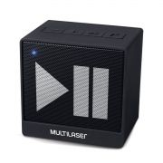 Caixa De Som Mini Preto Aux. 8W Bluetooth Multilaser - SP277