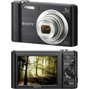 Camera Digital SONY DSC-W800 20.1MP, 5X Zoom Optico, Foto Panoramica Videos HD Preta