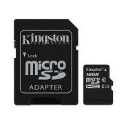 Cartao De Memoria 16gb Microsd Kingston Classe 10 Com Adaptador - Sdcs/16gb