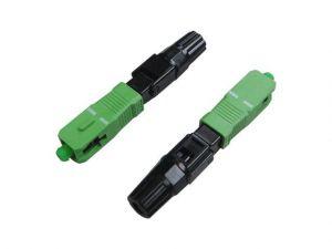Conector De Fibra Seccon Rapido SC-APC Verde