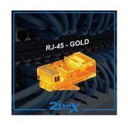 Conector Rj45  Amarelo Cabo Rede Gold Lan Plug