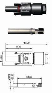 Conector Solar 2.5mm a 6mm Macho 40a 1100v