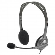 Fone Headset Logitech Estéreo Analógico H111 Cinza