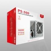 Fonte de Alimentação C3Tech PS-500 VE 500W PFC ATIVO S/CABO