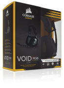 Headset Fone Corsair Gaming Void RGB Dolby 7.1 USB Preto CA-9011130-NA