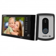 KIT Vídeo Porteiro Intelbras IV7010 HS C/Fone Preto LCD 7