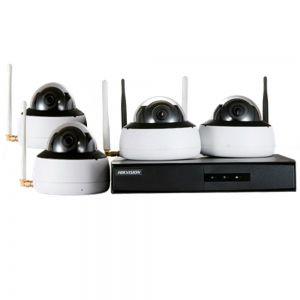 Kit De Monitoramento  Hikvision Wifi Nvr + 04 Câmeras Hikvision NK4W1-1T(TB) Hikhome