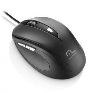 Mouse Multilaser Com Fio 1600Dpi USB 6 Botões Preto MO241