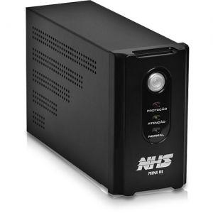 Nobreak NHS Mini III 600VA/300W Bivolt Preto (E.Bivolt / S.120V ou 220V (jumper interno) / Selada 1 x 7Ah)