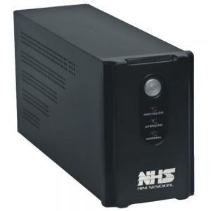 Nobreak NHS Mini Senoidal 600VA / 300W ( 1 Bateria Selada 7Ah / Entrada Bivolt / Saída 110V ou 220V)