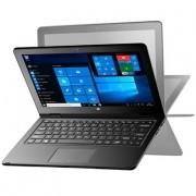 Notebook Multilaser 2 em 1 Tela 11,6 Touch Screen Intel Atom 32GB 2GB Windows 10 Cinza NB258