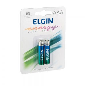Pilha Alcalina Aaa 1.5v Blister C/2 Elgin