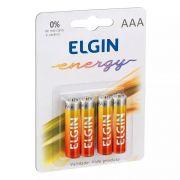 Pilha Zinco-carvão Aaa Elgin 1.5v Blister C4