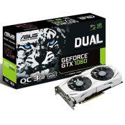 Placa De Vídeo Asus Geforce Gtx 1060 Dual Oc, 3gb Gddr5, 192bit, Dual-Gtx1060-O3g