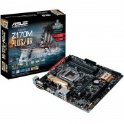 Placa-Mãe ASUS p/ Intel 6/7a Geração, LGA 1151 mATX Z170M-PLUS/BR, 4xDDR4, HDMI/DVI/DVI-D/RGB, M2,USB 3.0 Boost, SATA 6Gb/s, PCI Express, UEFI BIOS