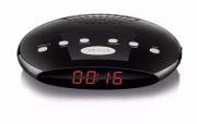 Rádio Relógio Fm Com Despertador Bivolt Sp167 Preto