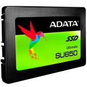 SSD Adata SU650, 120GB, SATA, Leitura 520MB/s, Gravação 450MB/s - ASU650SS-120GT-R