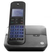 Telefone Fixo Motorola M6000 sem Fio Dect 6.0 com Identificador de Chamadas Até 5 ramais Bivolt - Preto