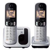 Telefone Panasonic Sem Fio 2 Ramais com Viva-Voz KX-TGC212LB1 Prata