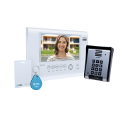 Video Porteiro Eletrônico HDL com Memória Controle de Acesso Siga-Me Seven S MCA  Branco