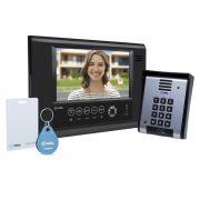 Video Porteiro Eletrônico HDL com Memória Controle de Acesso Siga-Me Seven S MCA Preto