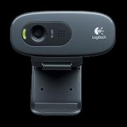 Web Cam 3.0 Mb Hd Usb Logitech C270 960-000691 (Com Microfone Integrado)