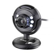 Webcam Multilaser 16Mp Nightvision Microfone Usb Preto WC045