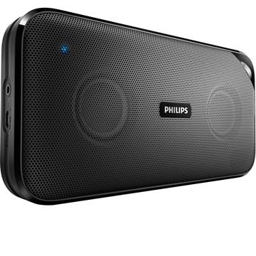 Caixa de Som Speaker BT3500B/00 Preto, Bluetooth, NFC, Aux-in, 5h de Bateria, 10W - Philips