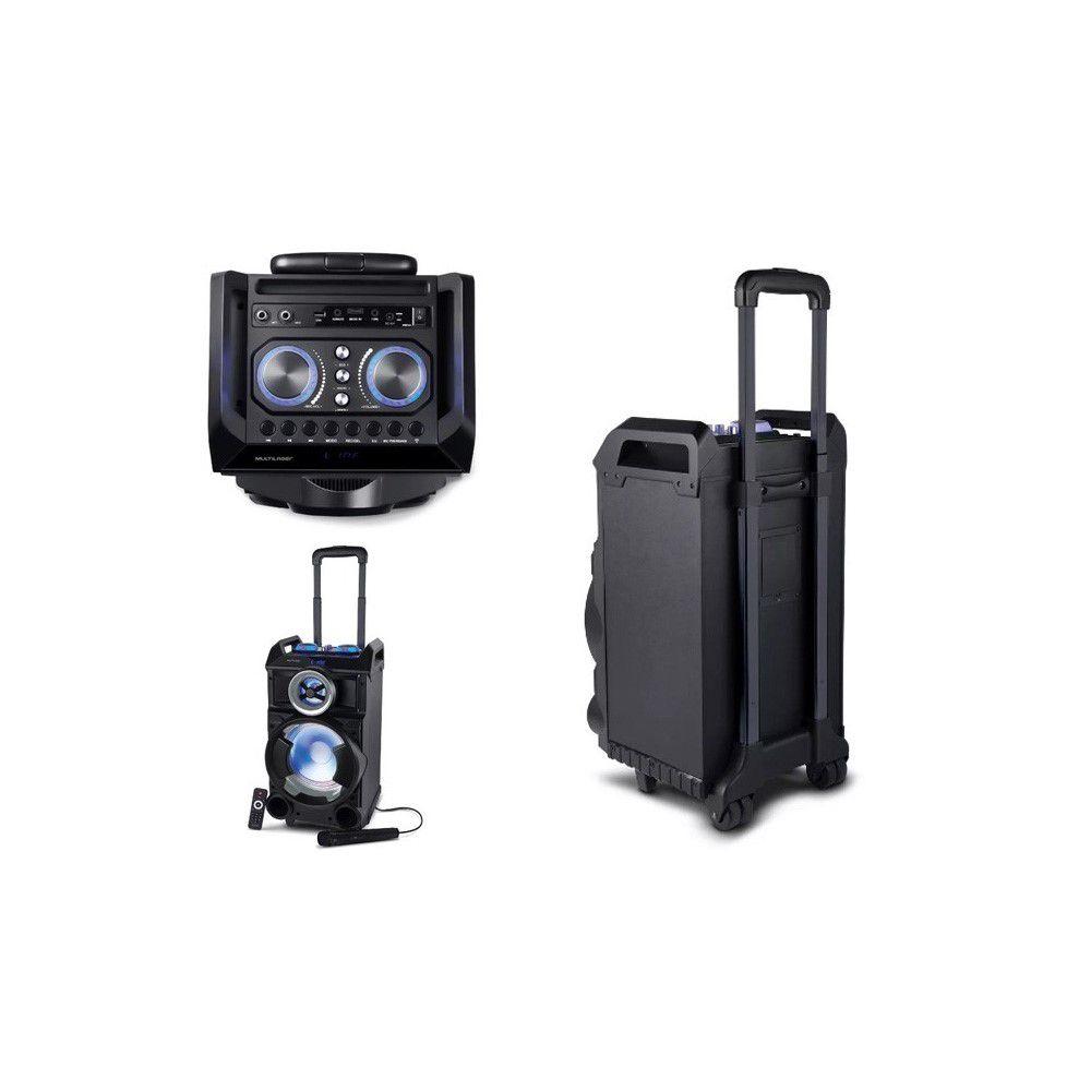 Caixa De Som Torre Single 8 Bt/Fm/Usb/Sd/Aux. Microfone 150W Preta - SP281