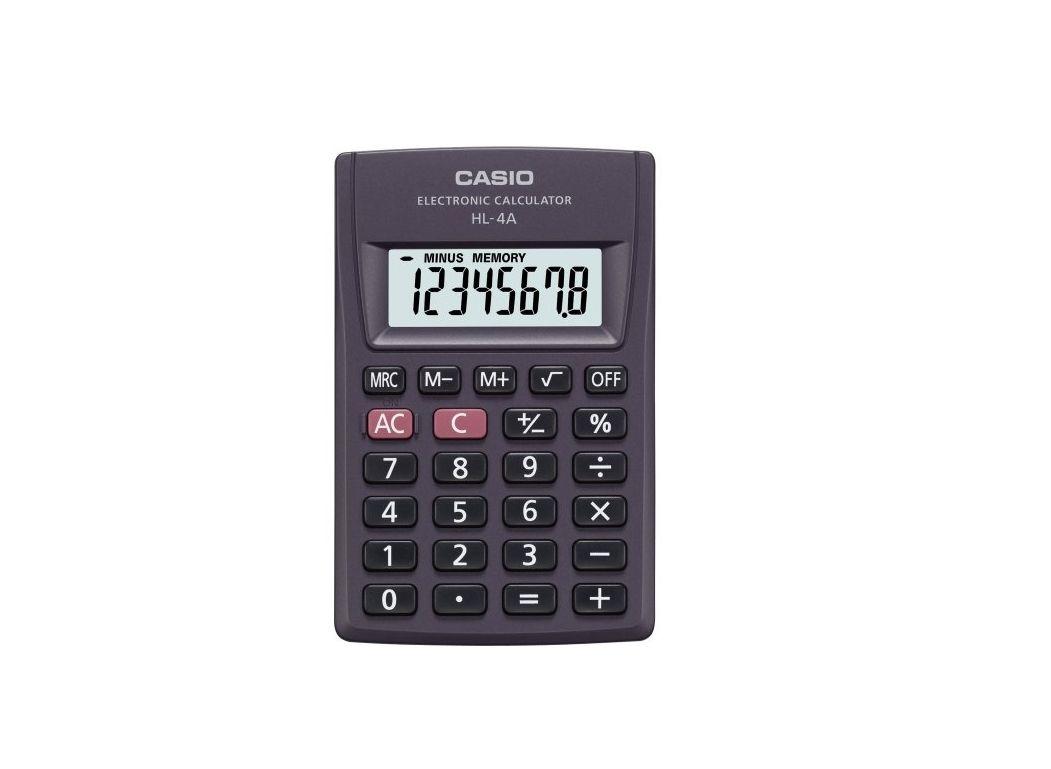 Calculadora de Bolso 8 Digitos HL-4A Preta Casio