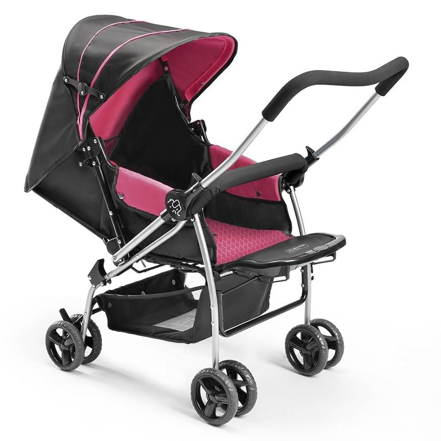 Carrinho De Bebe Berco Flip Rosa Multikids Baby BB504