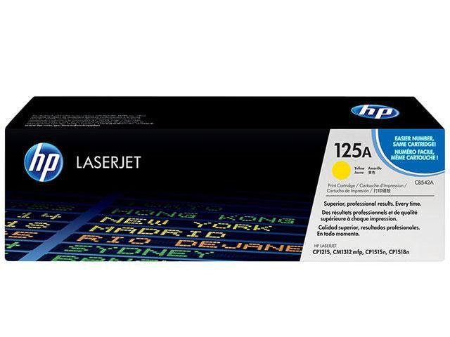 Cartucho De Toner HP LaserJet Amarelo 125A CB542AB