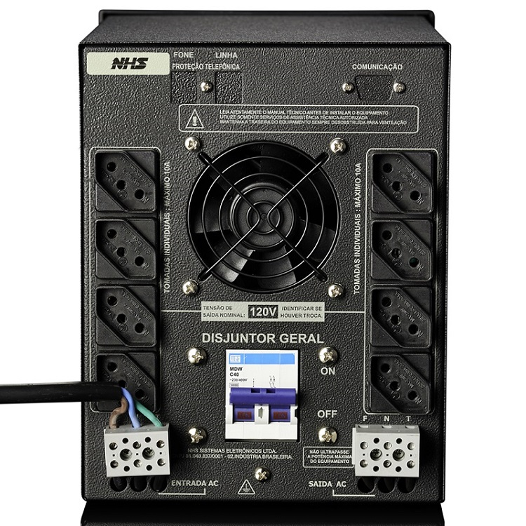 Estabilizador NHS EV Plus - DSP 3100VA - Bivolt
