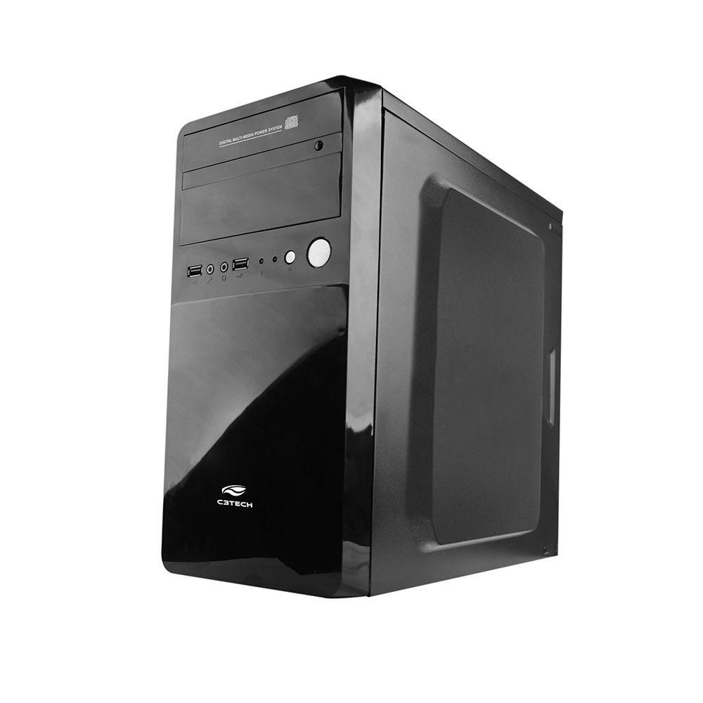 Gabinete C3Tech Micro-ATX com Fonte MT-22BK 200W