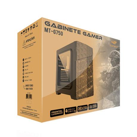 Gabinete Gamer C3tech MT-G750BK com 1 Led Sem Fonte 4x USB