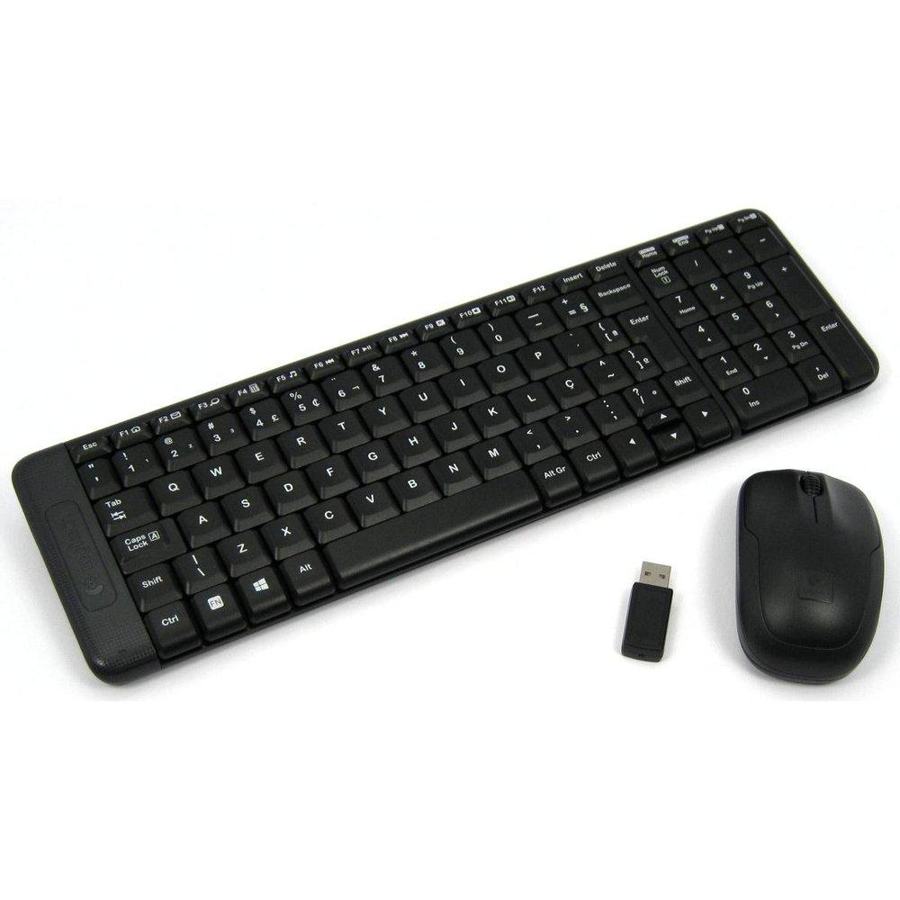 Kit Teclado e Mouse - Sem fio - Logitech Wireless Combo MK220 - Preto - 920-004431