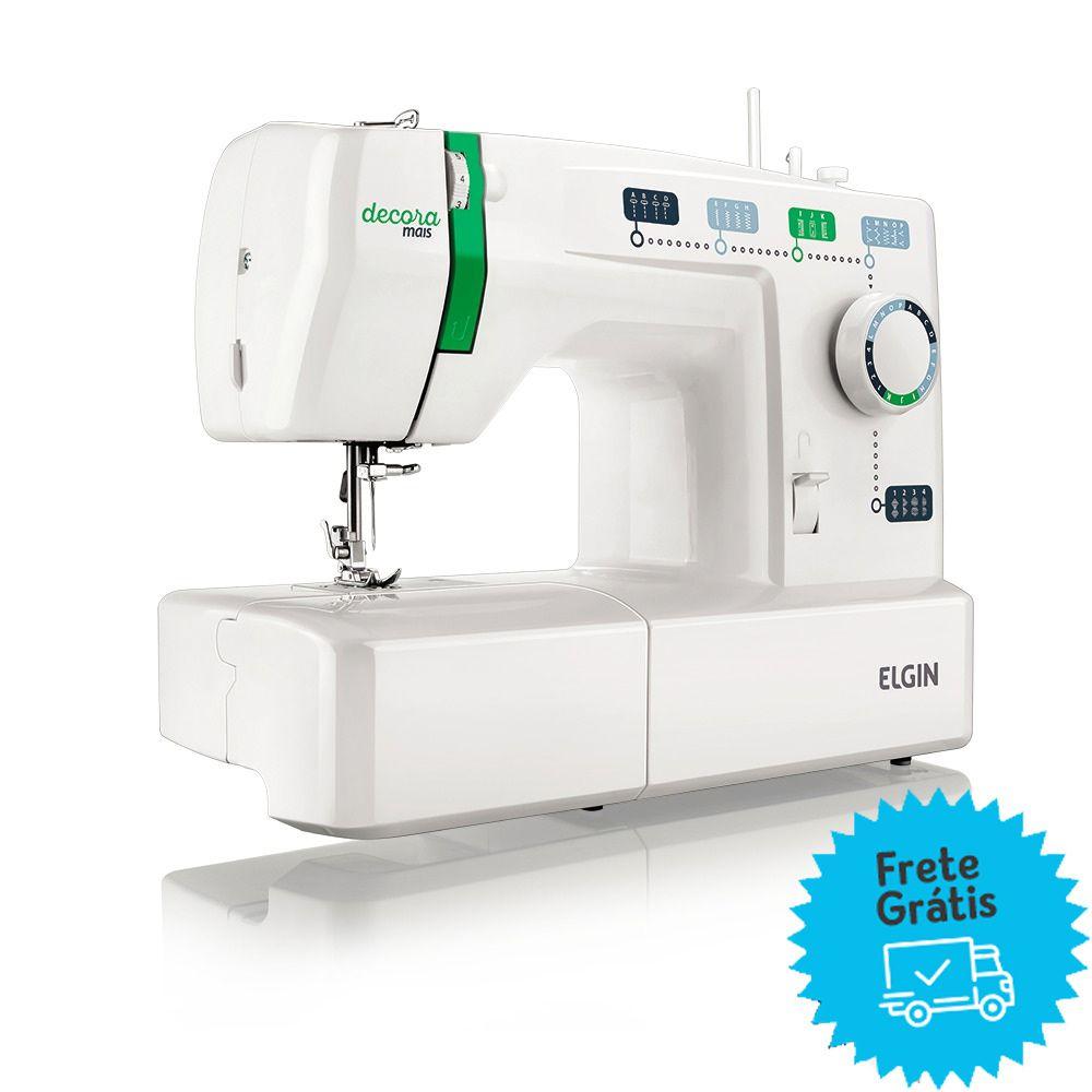 Máquina de Costura Elgin JX-2011 Decora Mais - Branca / Verde - 110V