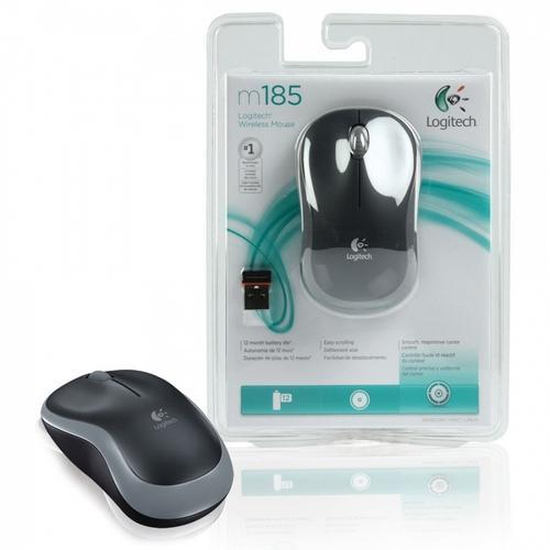 Mouse Sem Fio Logitech M185 Óptico Wireless 2.4ghz Preto