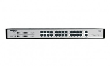 Switch Intelbras SG2620QR 24 Port 10/100+2 Portas Gigabit 10/100/1000 Biv