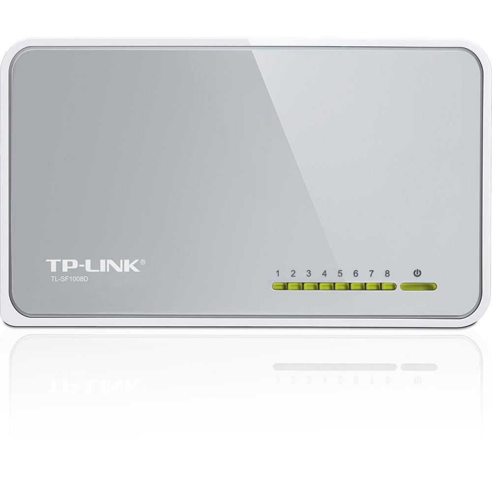 Switch Tl-Sf1008d 8 Portas - Cinza  - Tp-link