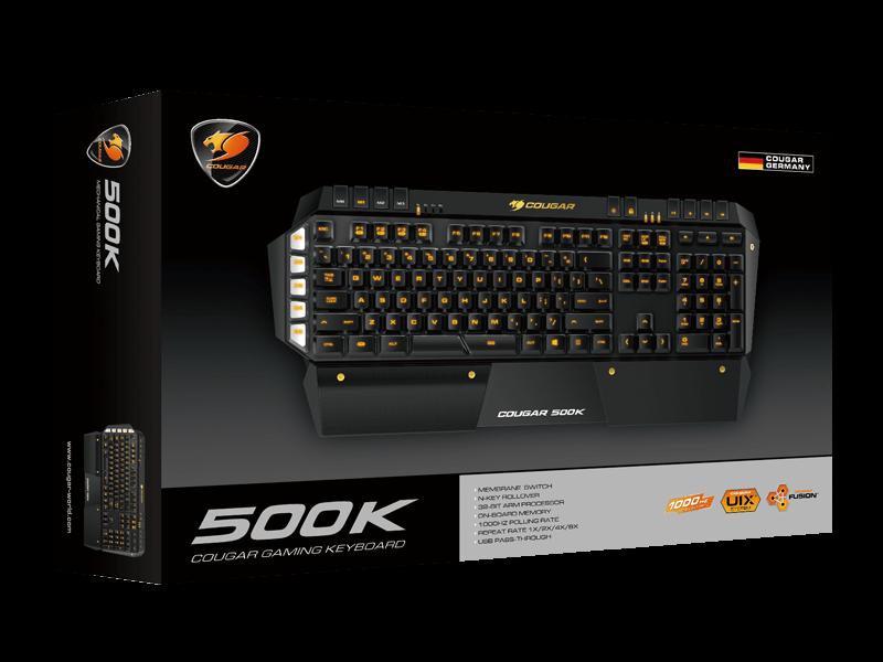 Teclado Gamer Cougar Mutimídia 500K - Padrão Brasileiro