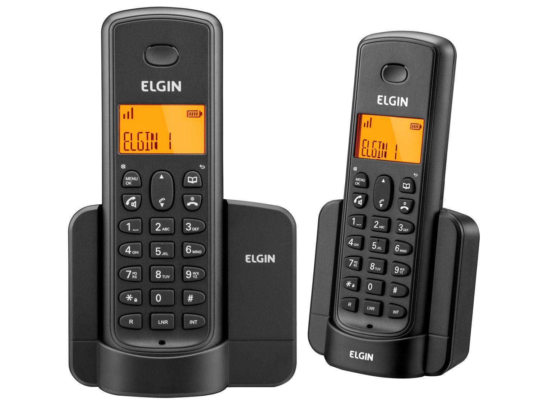 Telefone Sem Fio Identificador Elgin TSF8002 + 1 Ramal Preto