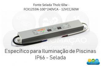 Fonte Selada Tholz - Fcx1255n-100~240vca - 12vcc/60w