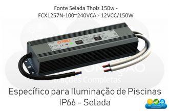 Fonte Selada Tholz - Fcx1257n-100~240vca - 12vcc/150w