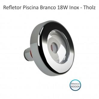 REFLETOR LED BRANCO - CABO 2M - 18W