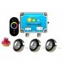 Kit Iluminação Piscina - 3 Leds Rgb 4,5w Tholz Inox + Módulo c/ Controle Touch 50w