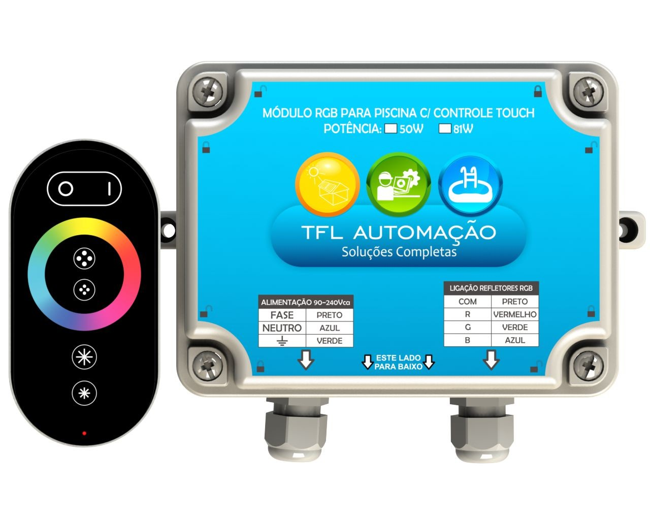 Módulo RGB c/ Controle Touch - 50W